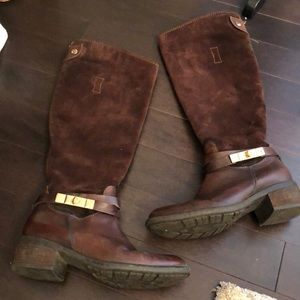 Brown Riding Boots with Buckle
